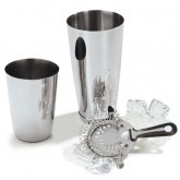 Carlisle 608515 Bar Essential Bar Cup 16 oz - Stainless Steel