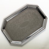 "Carlisle 608901 Celebration Octagonal Tray w/Beaded Border 17-1/8"" x 11-3/4"""