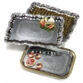 "Carlisle 608918 Celebration Rectangular Tray w/Ornate Border 21"" x 15"""