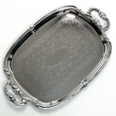 "Carlisle 608919 Celebration Oval Tray w/Integral Handles 20-7/8"" x 13-1/2"""
