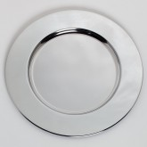 "Carlisle 608924 Charger Plate 12-3/16"" - Chrome"