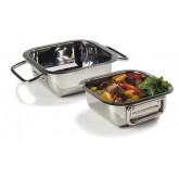 "Carlisle 609082 Square Display Dish 6-5/16"" - Stainless Steel"
