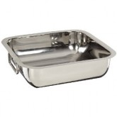 "Carlisle 609084 Square Display Dish 10"" - Stainless Steel"