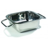 "Carlisle 609086 Square Display Dish 14-3/16"" - Stainless Steel"