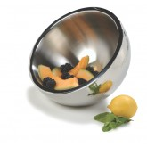 "Carlisle 609201 Dual Angle Bowl w/Hammered Finish 1.7 qt / 8"" - Stainless Steel"