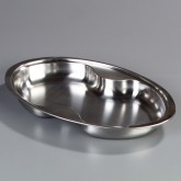 "Carlisle 609510F Oval Food Pan 20.25"" L X 12.5"" W"