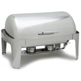 Carlisle 609576 Times Square Rectangular Roll-Top Chafer 8 qt - Stainless Steel