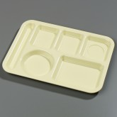 Carlisle 61404 Left-Hand 6-Compartment Tray - Yellow