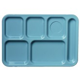 Carlisle 61459 Left-Hand 6-Compartment Tray - Slate Blue