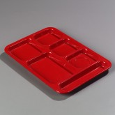 Carlisle 614R05 Right-Hand Compartment Tray - Red