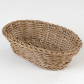 "Carlisle 655025 Woven Baskets Oval Basket Small 9"" - Caramel"""