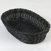 "Carlisle 655103 Woven Baskets Oval Basket 11.5"" - Black"