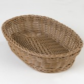 "Carlisle 655125 Woven Baskets Oval Basket 11.5"" - Tan"