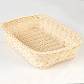 "Carlisle 655206 Woven Baskets Rectangular Basket 11.5"" - Oatmeal"