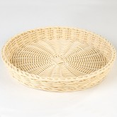 "Carlisle 655406 Woven Baskets Medium Round Basket 11"" - Oatmeal"