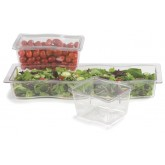 "Carlisle 698207 Modular Displayware Half Long Pan Wavy Edge 2-1/2"" Deep - Clear"