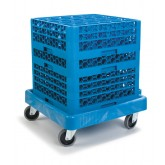 Carlisle C223614 Warewashing Rack Dolly - Blue