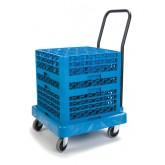 Carlisle C2236H14 Warewashing Rack Dolly - Blue