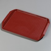 "Carlisle CT121705 Cafe Handled Tray 12"" x 17"" - Red"