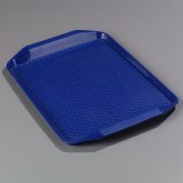 "Carlisle CT121714 Cafe Handled Tray 12"" x 17"" - Blue"