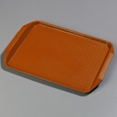 "Carlisle CT121724 Cafe Handled Tray 12"" x 17"" - Orange"