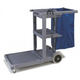 Carlisle JC1945L23 Long Platform Janitorial Cart - Gray