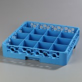 "Carlisle RC1614 OptiClean 16-Compartment Cup Rack 19.75"" x 19.75"" - Carlisle Blue"