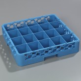 "Carlisle RC2014 OptiClean 20-Compartment Cup Rack 19.75"" x 19.75"" - Carlisle Blue"