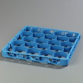 "Carlisle REW20S14 OptiClean NeWave 20-Compartment Glass Rack Extender 19.75"" x 19.75"" - Carlisle Blue"