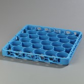 "Carlisle REW30S14 OptiClean NeWave 30-Compartment Glass Rack Extender 19.75"" x 19.75"" - Carlisle Blue"