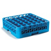 "Carlisle RG36-114 OptiClean 36-Compartment Glass Rack w/1 Extender 19.75"" x 19.75"" - Carlisle Blue"