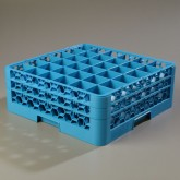 "Carlisle RG36-214 OptiClean 36-Compartment Glass Rack w/2 Extenders 19.75"" x 19.75"" - Carlisle Blue"