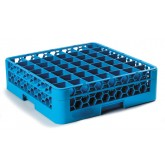 "Carlisle RG49-114 OptiClean 49-Compartment Glass Rack w/1 Extender 19.75"" x 19.75"" - Carlisle Blue"