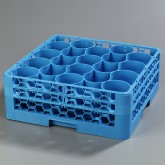 "Carlisle RW20-114 OptiClean NeWave 20-Compartment Glass Rack w/2 Extenders 19.75"" x 19.75"" - Carlisle Blue"