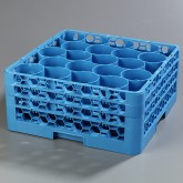 "Carlisle RW20-214 OptiClean NeWave 20-Compartment Glass Rack w/3 Extenders 19.75"" x 19.75"" - Carlisle Blue"