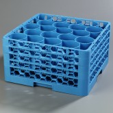 "Carlisle RW20-314 OptiClean NeWave 20-Compartment Glass Rack w/4 Extenders 19.75"" x 19.75"" - Carlisle Blue"