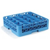"Carlisle RW2014 OptiClean NeWave 20-Compartment Glass Rack w/Integrated Extender 19.75"" x 19.75"" - Carlisle Blue"