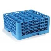"Carlisle RW30-214 OptiClean NeWave 30-Compartment Glass Rack w/3 Extenders 19.75"" x 19.75"" - Carlisle Blue"