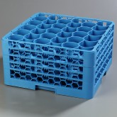 "Carlisle RW30-314 OptiClean NeWave 30-Compartment Glass Rack w/4 Extenders 19.75"" x 19.75"" - Carlisle Blue"