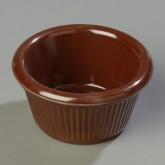 Carlisle S28269 Fluted Ramekin 3 oz - Chocolate