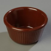 Carlisle S28769 Fluted Ramekin 4 oz - Chocolate