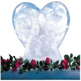 Carlisle SHR102 Ice Sculptures Heart - White