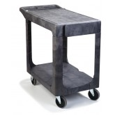 "Carlisle UC194023 Flat Shelf Utility Cart 40"" x 19"" - Gray"